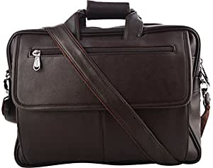Priority Synthetic Brown Laptop Briefcases