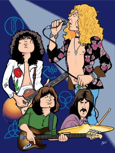"Archival Canvas Limited Edition Art Print Led Zeppelin 24"" X 18"""