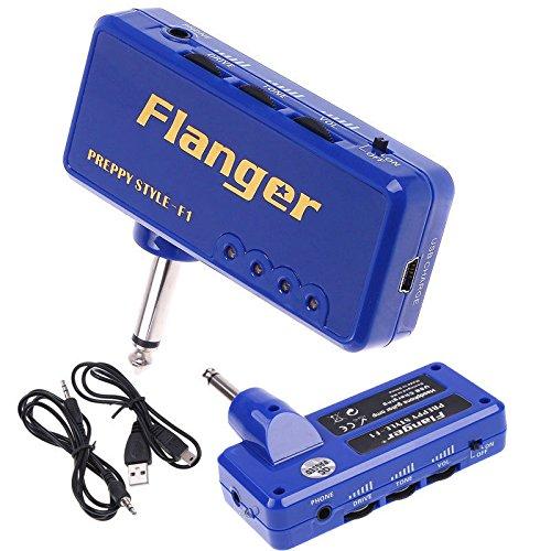 Miniature Portable Blue Headphone Guitar Amp Amplifier For Classic Rock