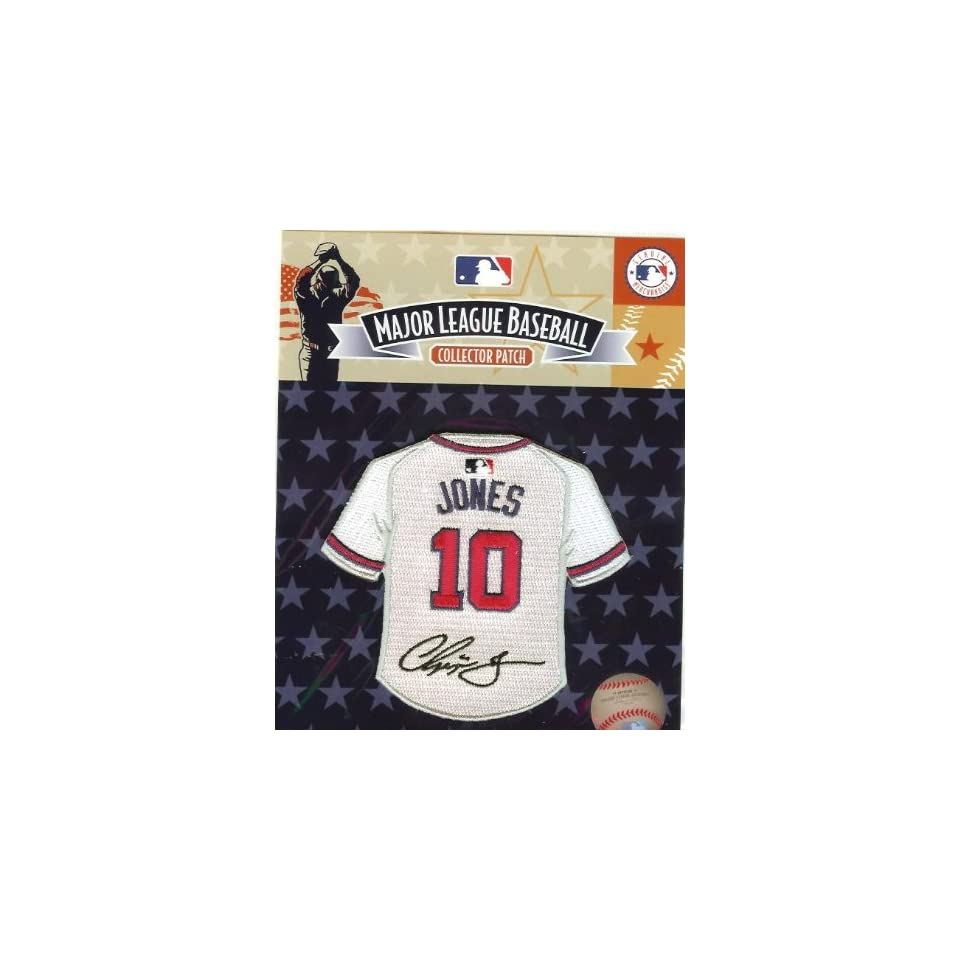 on sale 8f548 524f2 Chipper Jones Mini Jersey Patch Facimile Signature 100 ...