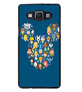 PrintDhaba Mickey Impression D-2394 Back Case Cover for SAMSUNG GALAXY A5 (Multi-Coloured)