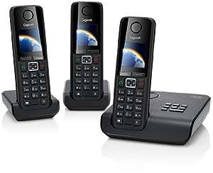 Gigaset A630 A Trio Dect-Schnurlostelefon mit Anrufbeantworter, incl. 2 zusätzlicher Mobilteile, schwarz