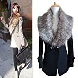 DZT1968® Women Faux Fox Fur Collar Scarf Shawl Collar Wrap Scarves