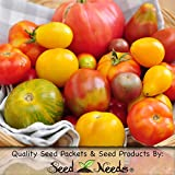 "70 Seeds, Tomato ""Rainbow Blend"" (Black Sea Man, Black Krim, Yellow Brandywine, Tiny Tim, Ace 55 & More!) Seeds by Seed Needs"