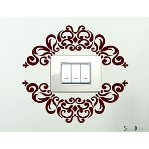 Adesivi per interruttore spine placche Adesivo Ornamento in stile Wall Stickers decorativo Ornamentale Adesivo Murale Decorazione interni Casa   Valutazione del cliente