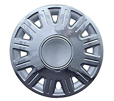 2003-2007 Ford Crown Victoria 16 Inch Silver W/ Chrome Edge Clip-On Hubcap Covers (Set of 4)