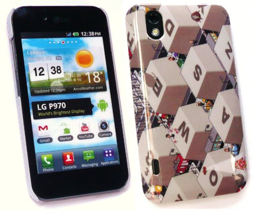 Emartbuy Lg Optimus Black / White P970 Qwerty-Tastatur Super Slim Clip On Protection Case / Cover / Skin