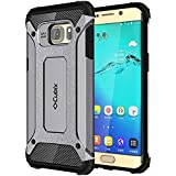 Cubix Impact Hybrid Armor Defender Case For Samsung Galaxy S6 Edge+ (Grey)