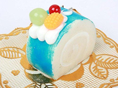 ロールケーキ型 ヘアピン 子ども ブルー スイートティーブレイク