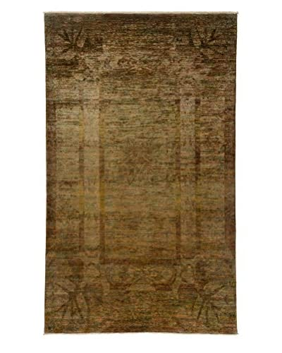 Darya Rugs Transitional Oriental Rug, Gold, 9′ 10″ x 5′ 10″