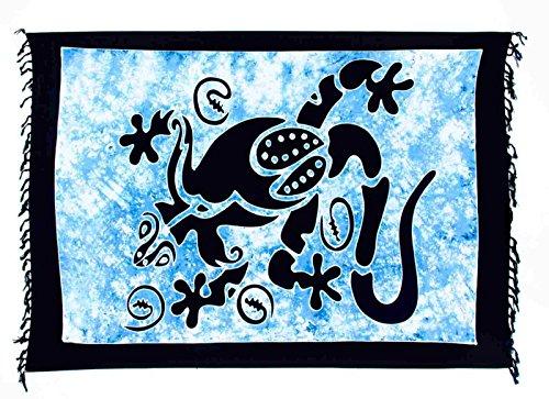 Ciffre - Copricostume -  donna Multicolore Gecko Groß Batik Schwarz Blau CSGBB
