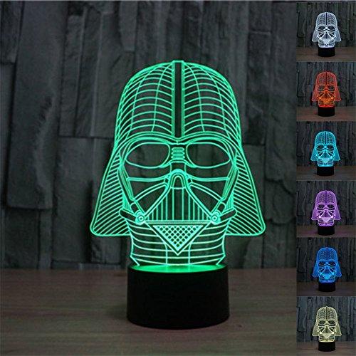 SmartEra® 3D Star Wars Darth Vader Modello 7 Tipo di cambiare i colori Fantastic Desk LED pulsante USB Tabella di tocco della luce della lampada
