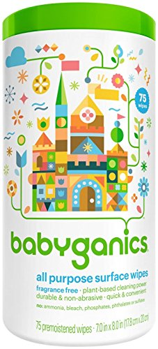 Babyganics All Purpose Wipes, Fragrance Free, 75 ct - 1