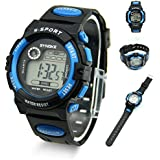 Estone® Mens Boys Daily Water Resistant Alarm Date Quartz LED Digital Wrist Watches