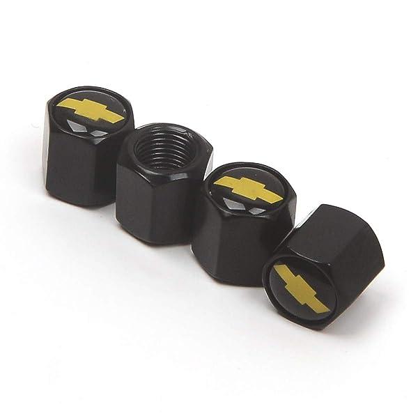 Keychain With Suzuki Emblem Black Wheel Tyre Tire Valve Dust Stems Air Caps