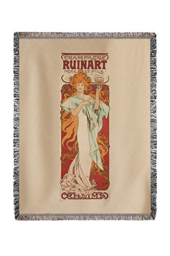 champagne-ruinart-vintage-poster-artist-mucha-alphonse-france-c-1896-60x80-woven-chenille-yarn-blank