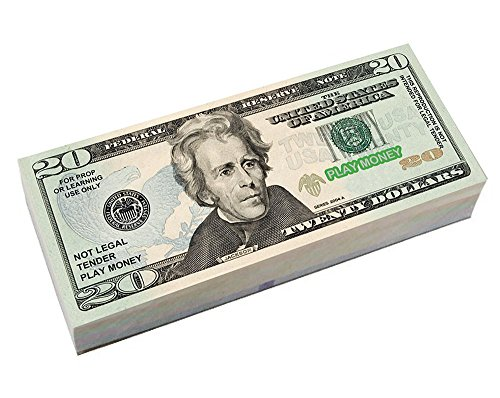 Toy Money 100 : Best real looking play money size color double