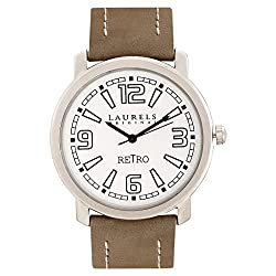 Laurels Retro 1 Analog Silver Dial Mens Watch ( Lo-Ret-101)