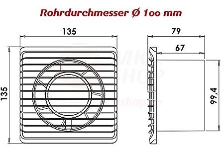 ventilator testsieger plumbing4home badventilator 100 mm in wei l fter ventilator front. Black Bedroom Furniture Sets. Home Design Ideas