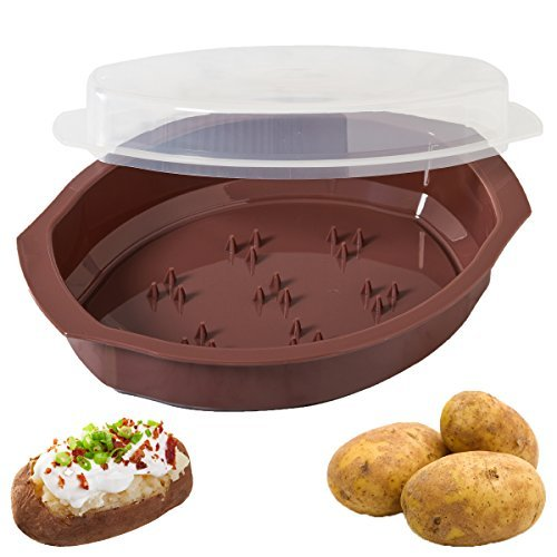 Progressive International Microwavable Potato Cooker With Lid (Brown) Color: Brown Home & Kitchen