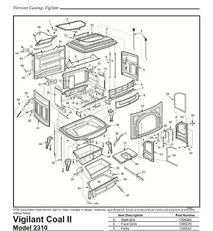 Vermont Castings Vigilant Stove Parts