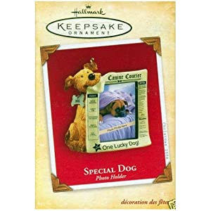 Hallmark Keepsake Special Dog 2004 Photo Holder Christmas Ornament