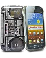 Accessory Master Coque pour Samsung Galaxy Ace 2 i8160 Motif Stéréo Noir