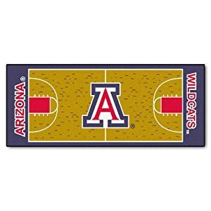 FANMATS NCAA University of Arizona Wildcats Nylon Face Basketball Court Runner by Fanmats