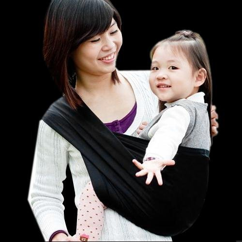 abcGoodefg-Cotton-Baby-Toddler-Sling-Carrier-Wrap-Pouch-NEW-Black