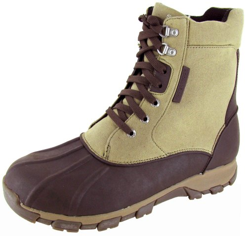 Sperry Top-Sider Men's Wetlands High Snow Boots,Brown Canvas,10 M US