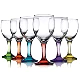 Carnival Color, Wine Glass 9 OZ, Set of 6 - 9 OZ