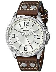Fossil Recruiter Analog Beige Dial Men's Watch - FS4936