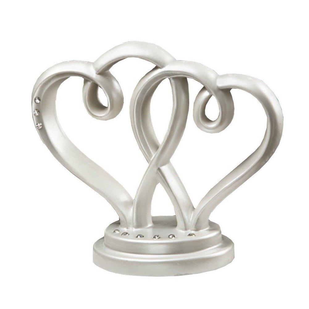 Fashioncraft Interlocking Hearts Centerpiece/Cake Topper 4
