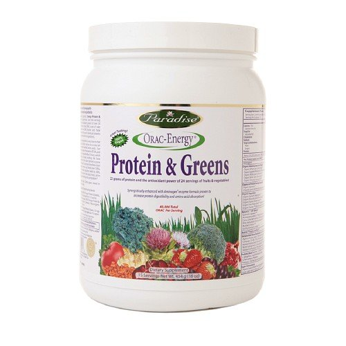 Paradise Herbs Orac-Energy Protein And Greens - 16 Oz