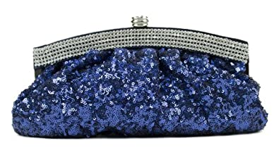 Scarleton Satin Soft Frame Clutch H3006 (Blue)