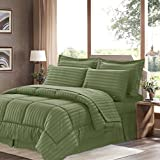 Sweet Home Collection 8 Piece Bed In A Bag With Dobby Stripe Comforter, Sheet Set, Bed Skirt, And Sham Set - King... - B01A1GDIUQ