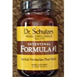 1 - Dr. Schulze's Intestinal Formula #1 ~ NEW GLASS BOTTLE ~ Colon Bowel Cleanse Laxative 90 Caps per Bottle ~ Dr. Schulze's