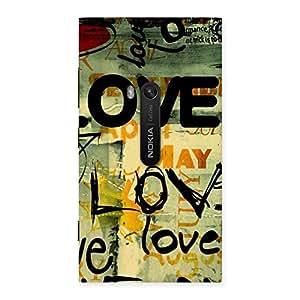 Gorgeous Love Typo Multicolor Back Case Cover for Lumia 920