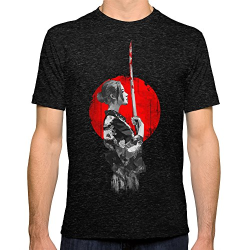 Society6 Men'S Samurai Girl T-Shirt Large Tri-Black