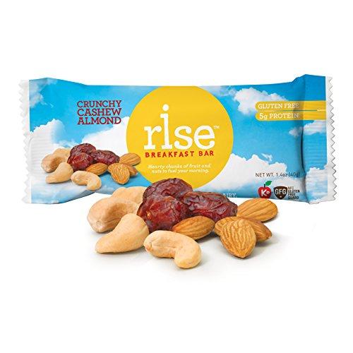 Rise Bar Non-GMO, Gluten-Free Breakfast Bars, Crunchy Cashew Almond, 12-Count (Gluten Free Breakfast Bars compare prices)