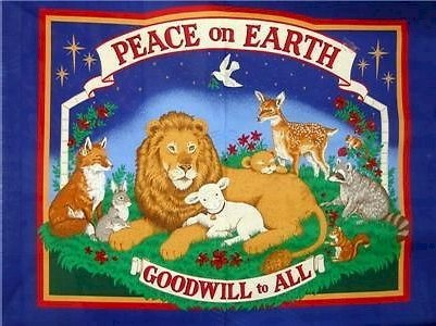 Peace On Earth Goodwill To All Jungle Animals Christmas