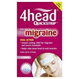 4Head Migraine Relief Strips 4 strips