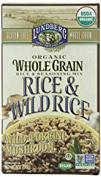 Lundberg Organic Whole Grain and Wild Rice, Wild Porcini Mushroom, 6 Ounce (Pack of 6)