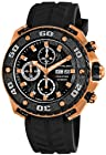 Stuhrling Prestige Men's 322A.33461 Prestige Swiss Made Automatic Valjoux 7750 Maverick Chronograph Multifunction Rose Tone Watch