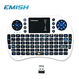 Rii 10038-EMISHW i8 Mini 2.4GHz Wireless Touchpad Keyboard with Mouse for PC, White