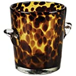 IMPULSE Tortoise Ice Bucket, Brown/Spotted, Set of 1