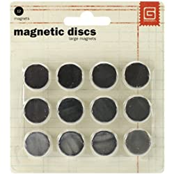 Basic Grey 5/8-Inch-by-1/32-Inch Magnetic Snaps Large.