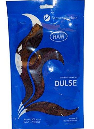 ダルス 50g 生タイプ ベーコン味の海藻 dulse 手摘み【海外直送】 (2個セット) [並行輸入品]