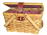 Search : Quickway Imports QI003046 Picnic Basket with Red White Plaid Lining