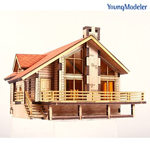 Desktop Wooden Model Kit Garden House A with a large deck by YOUNGMODELER (Models Kits compare prices)